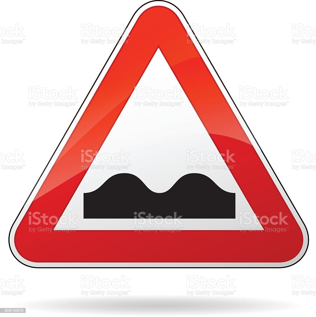 bump sign vector art illustration