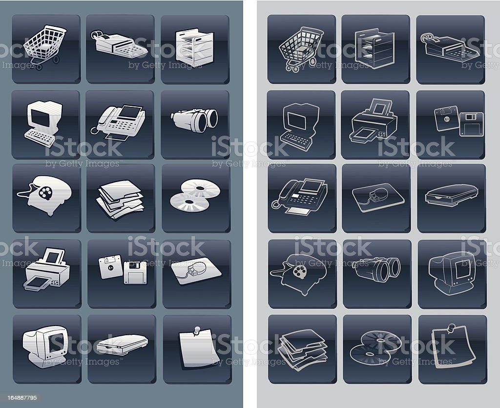 Bumper Set of Plastic Icons royalty-free stock vector art