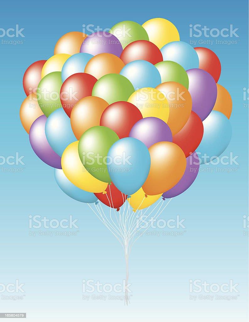 Bunch of Balloons royalty-free stock vector art