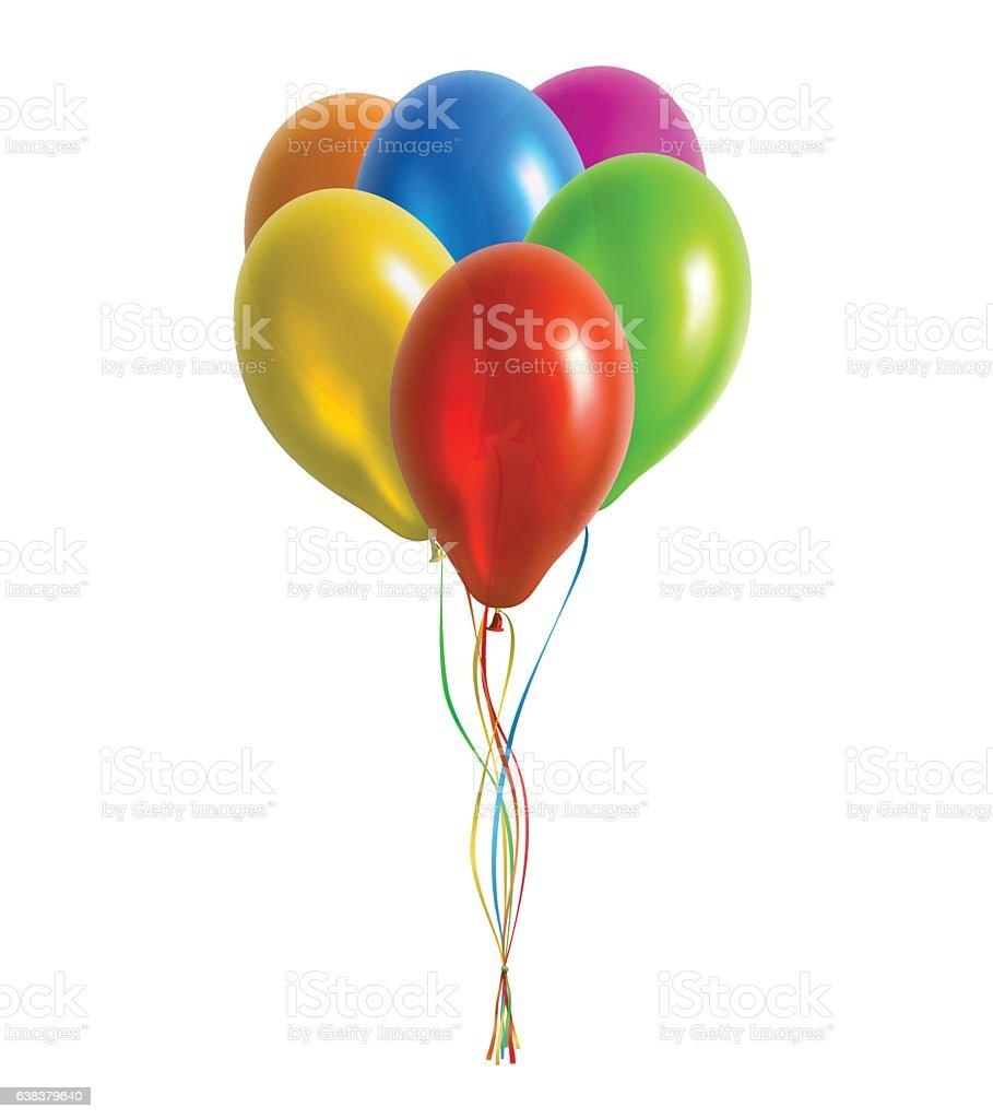 Bunch of Balloons Vector Illustration vector art illustration