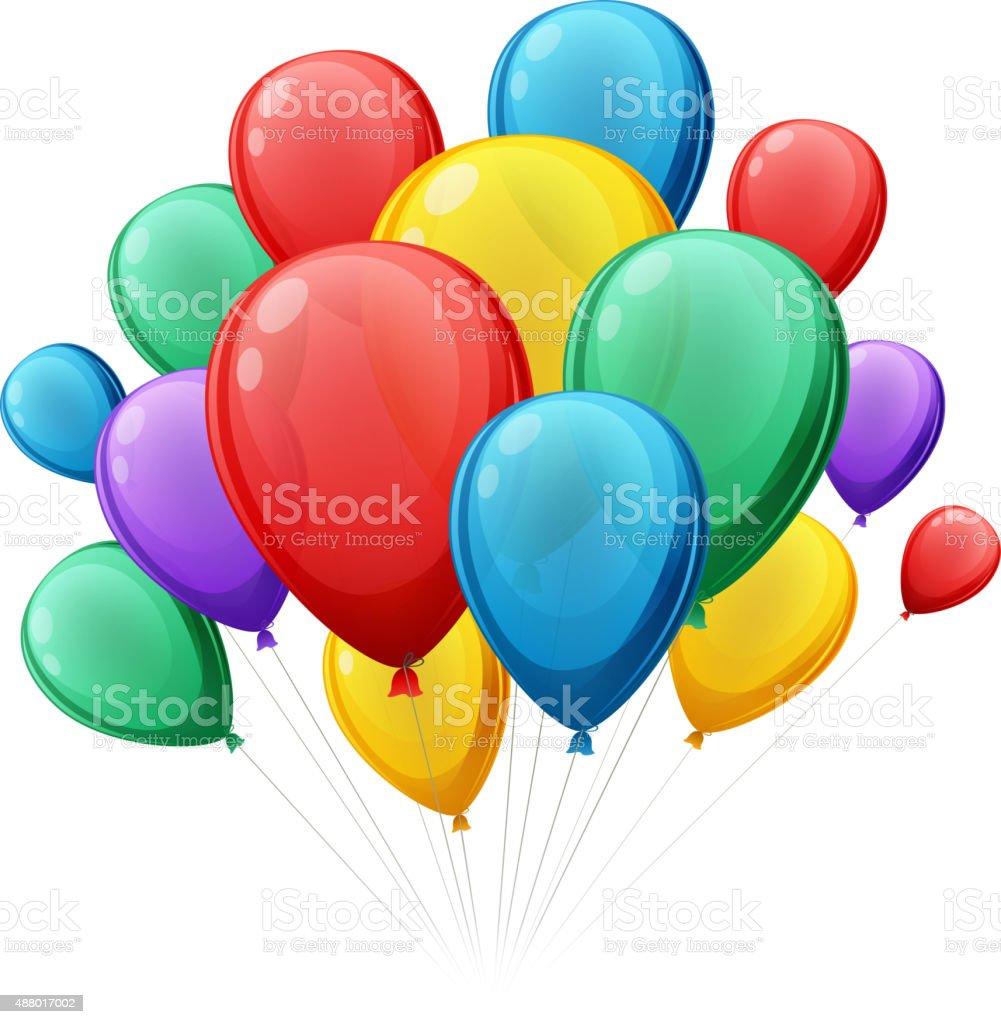 Bunch of colorful balloons vector illustation vector art illustration