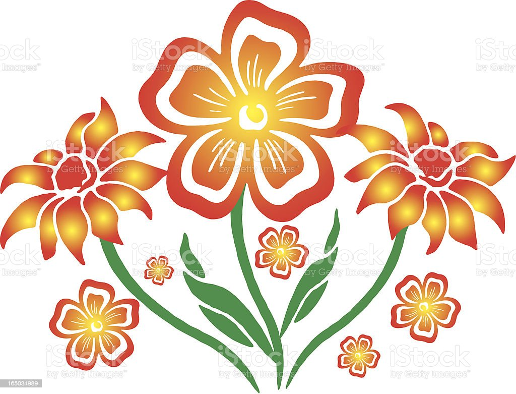 Bunch of Flowers royalty-free stock vector art