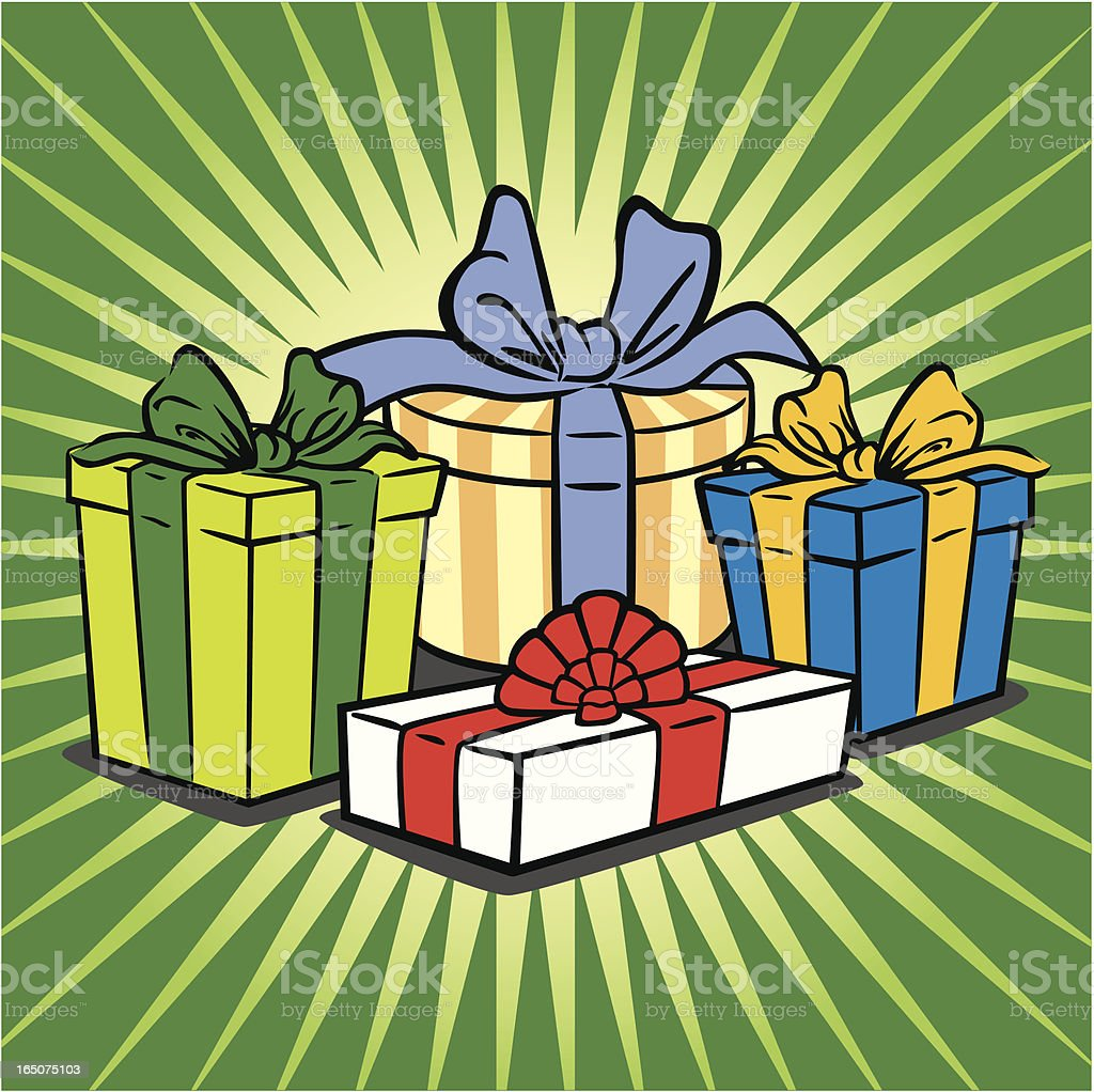Bunch of Gifts royalty-free stock vector art