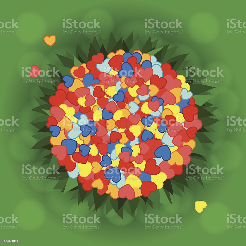 Bunch of hearts royalty-free stock vector art