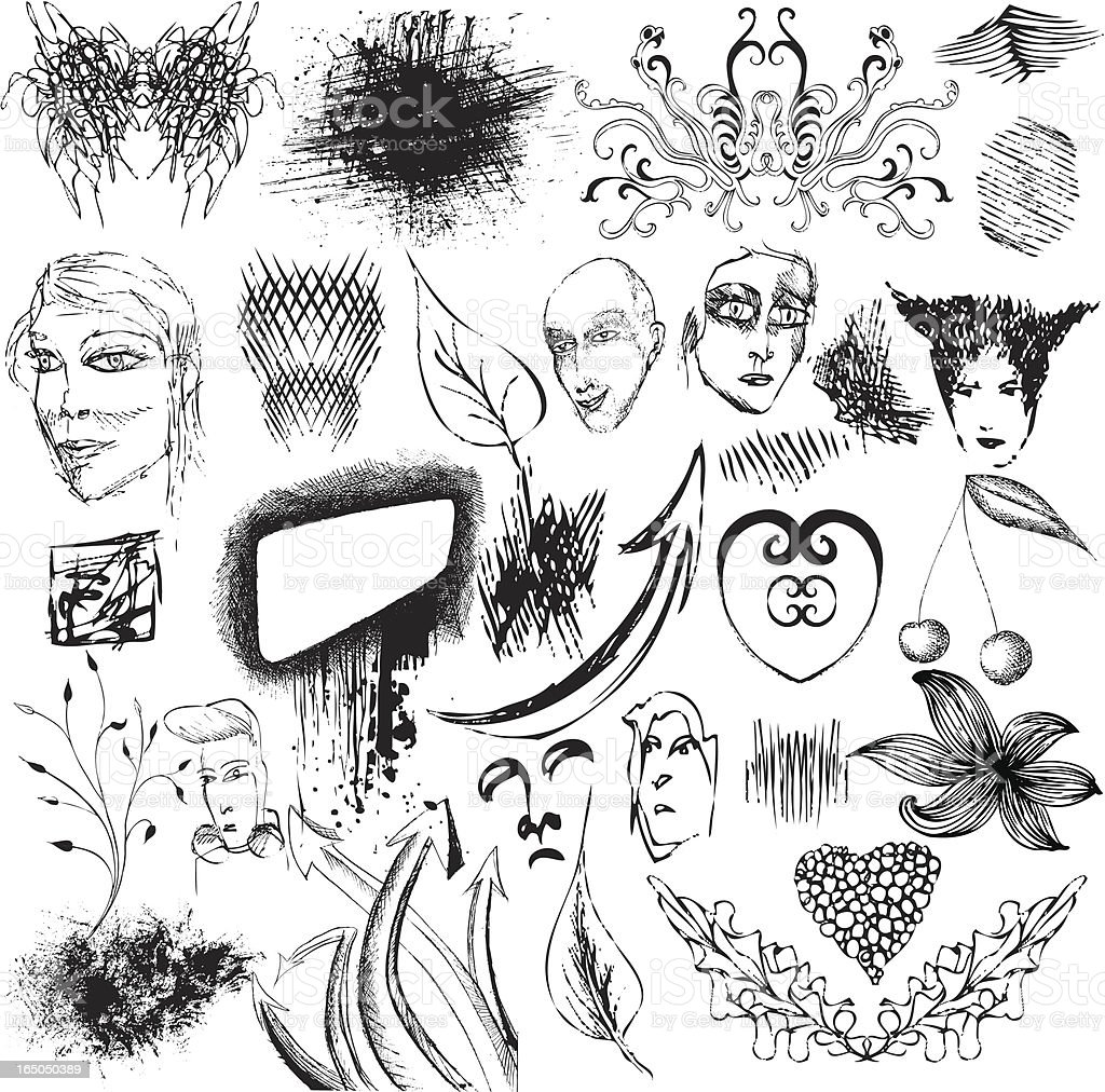 bunch of illustrations royalty-free stock vector art