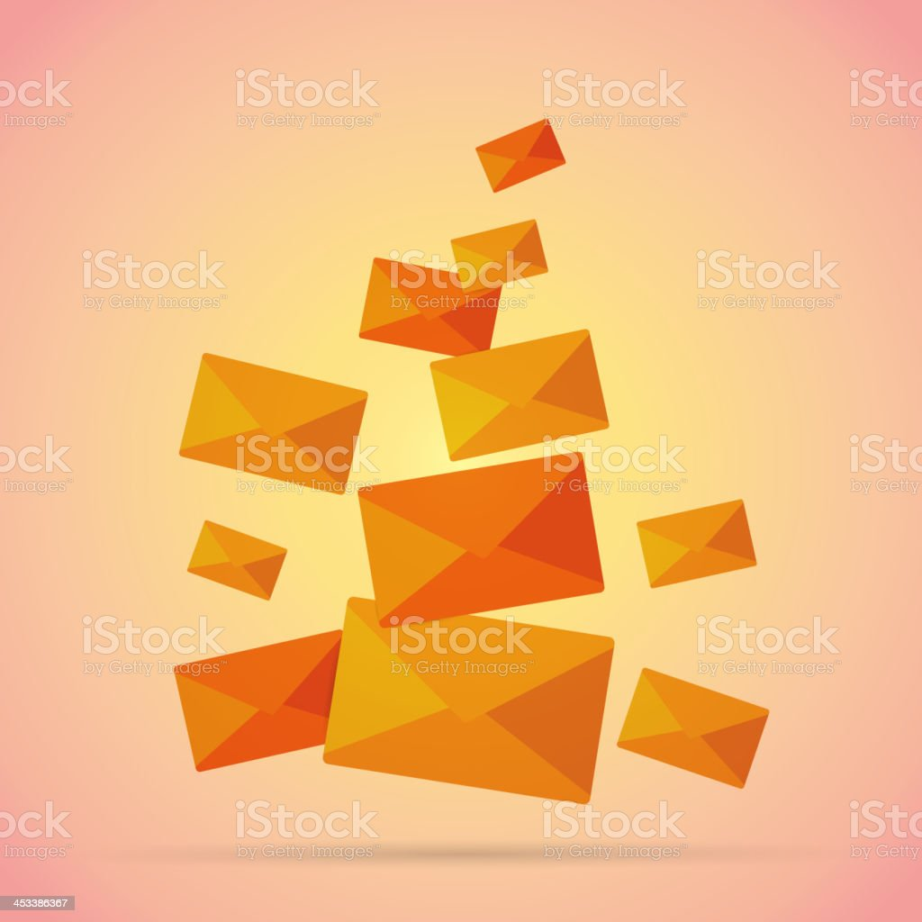 Bunch of Mails vector art illustration