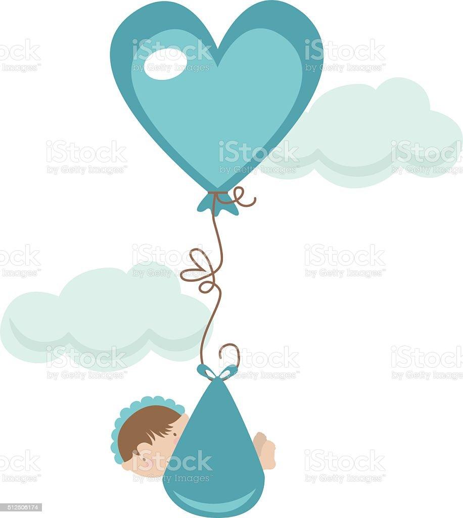 Bundle of Joy - Boy vector art illustration