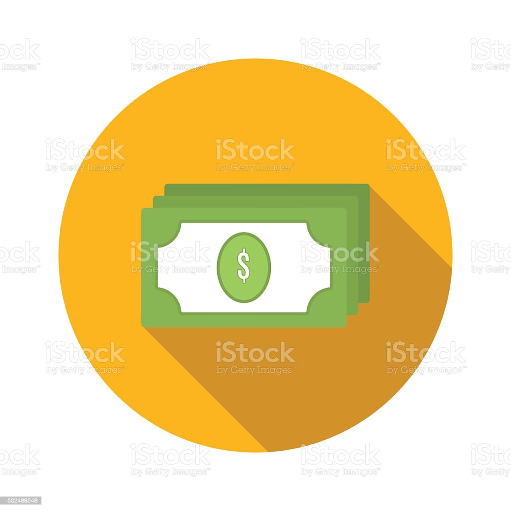 Bundle of money flat icon vector art illustration