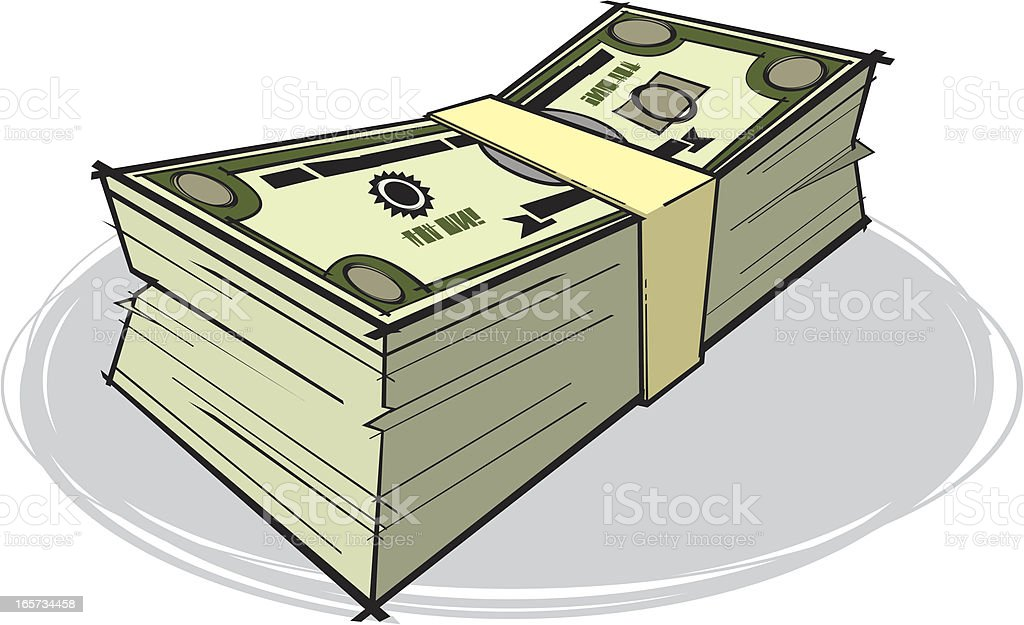 Bundle of Money vector art illustration