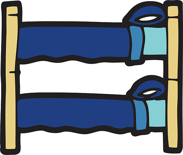Bunk Bed Clip Art, Vector Images & Illustrations - iStock
