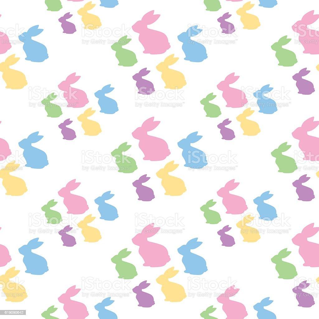 Bunnies Seamless Pattern vector art illustration