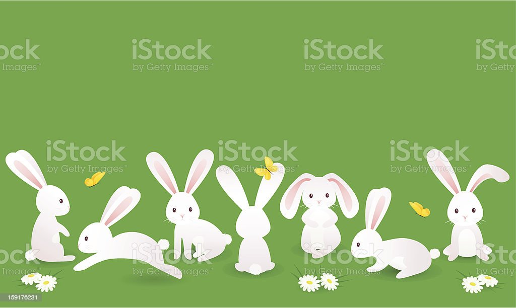 Bunnies royalty-free stock vector art
