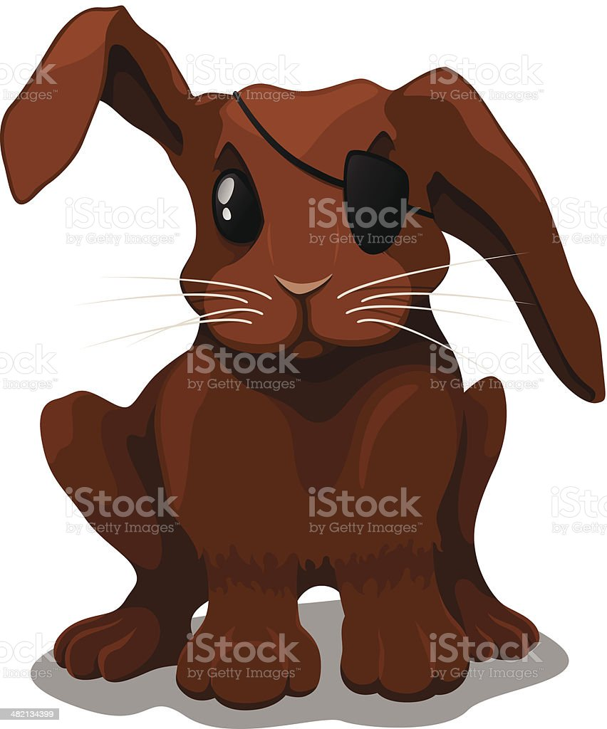 Bunny - at the vet royalty-free stock vector art