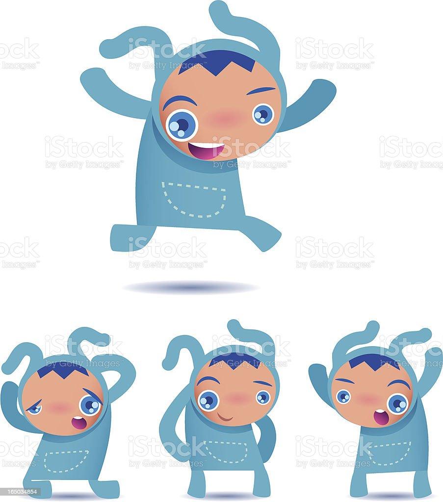 bunny boy royalty-free stock vector art