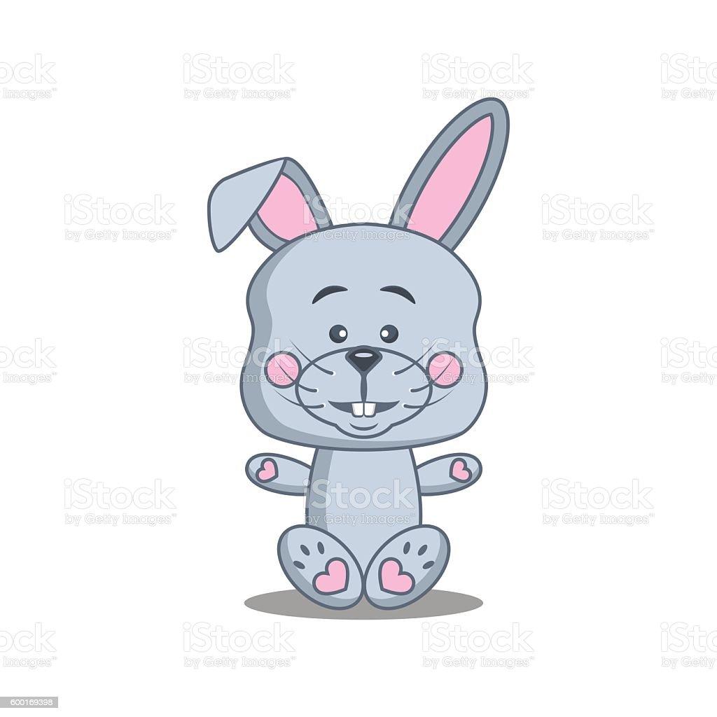 bunny boy vector art illustration