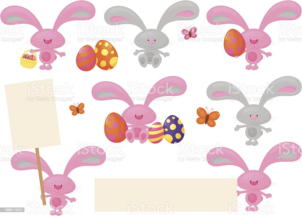 Bunny Easter royalty-free stock vector art