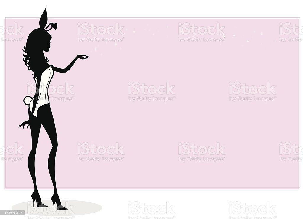Bunny Girl vector art illustration