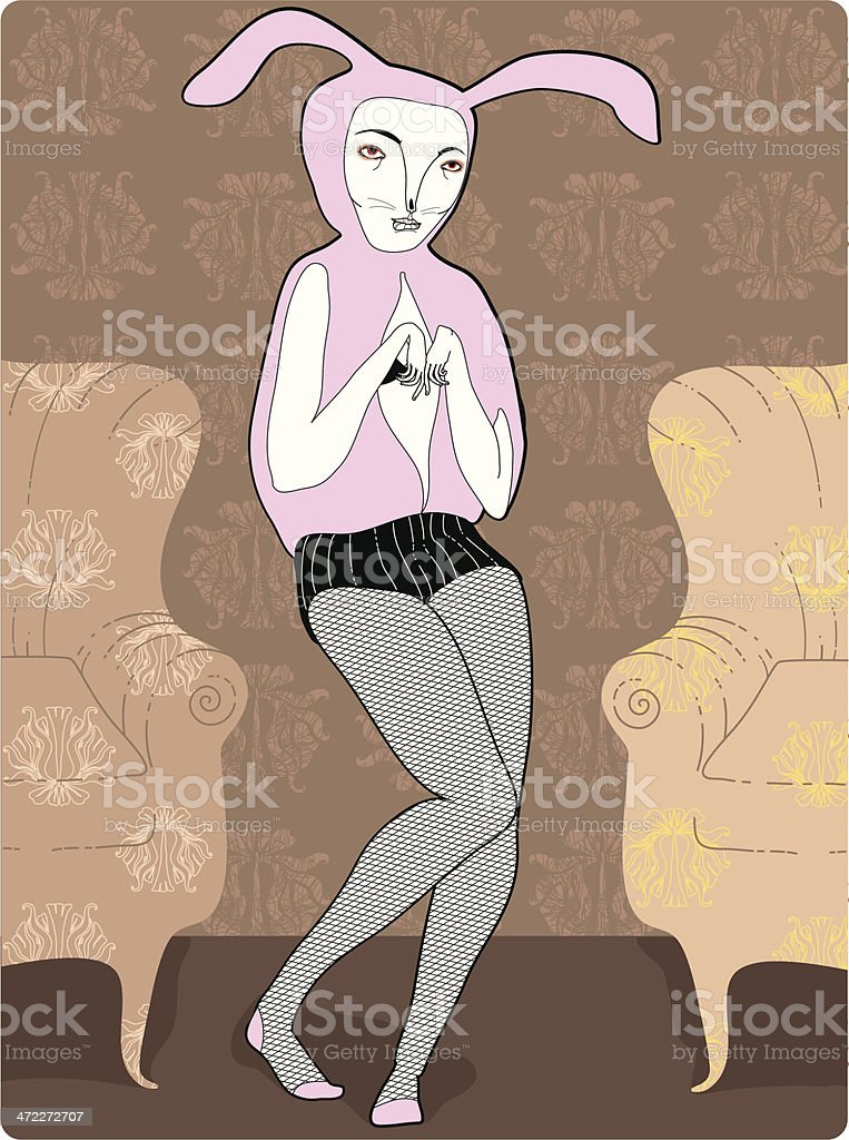 Bunny girl royalty-free stock vector art