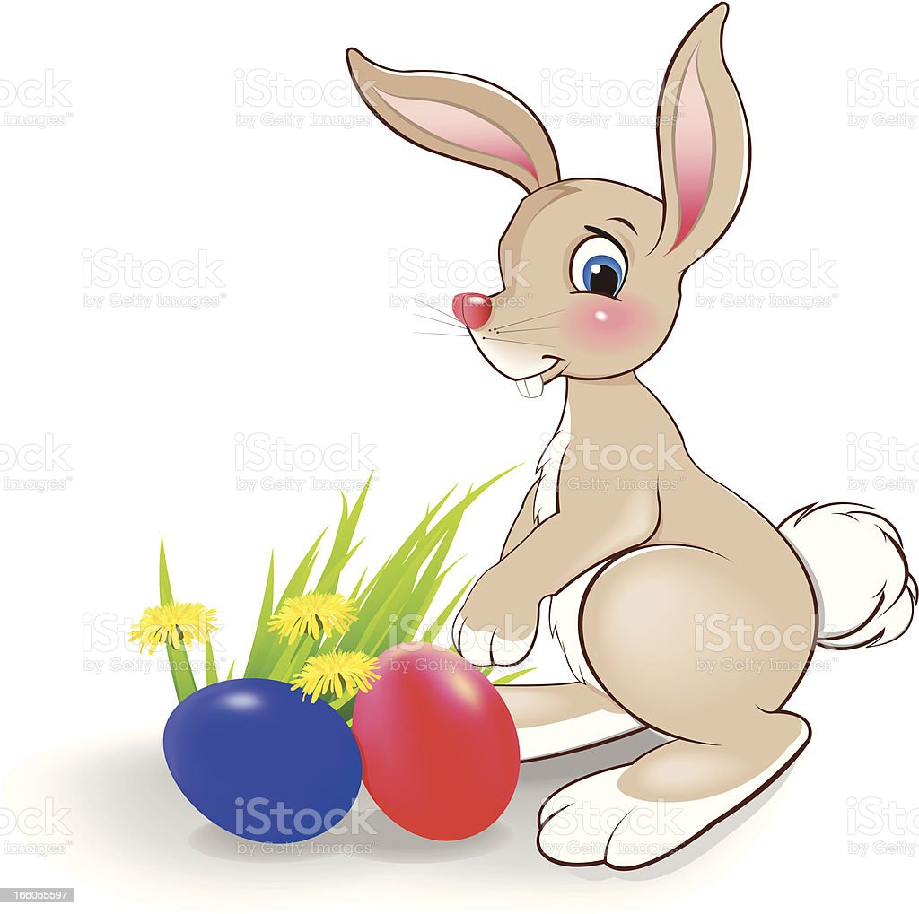 Bunny with eggs royalty-free stock vector art