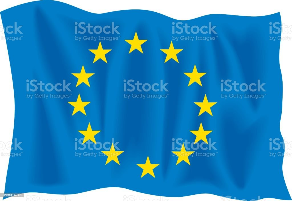Bunting EU flag vector art illustration