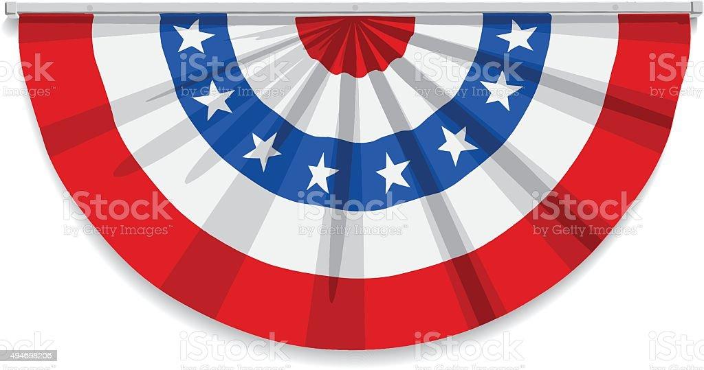 Bunting USA Vector Flag vector art illustration
