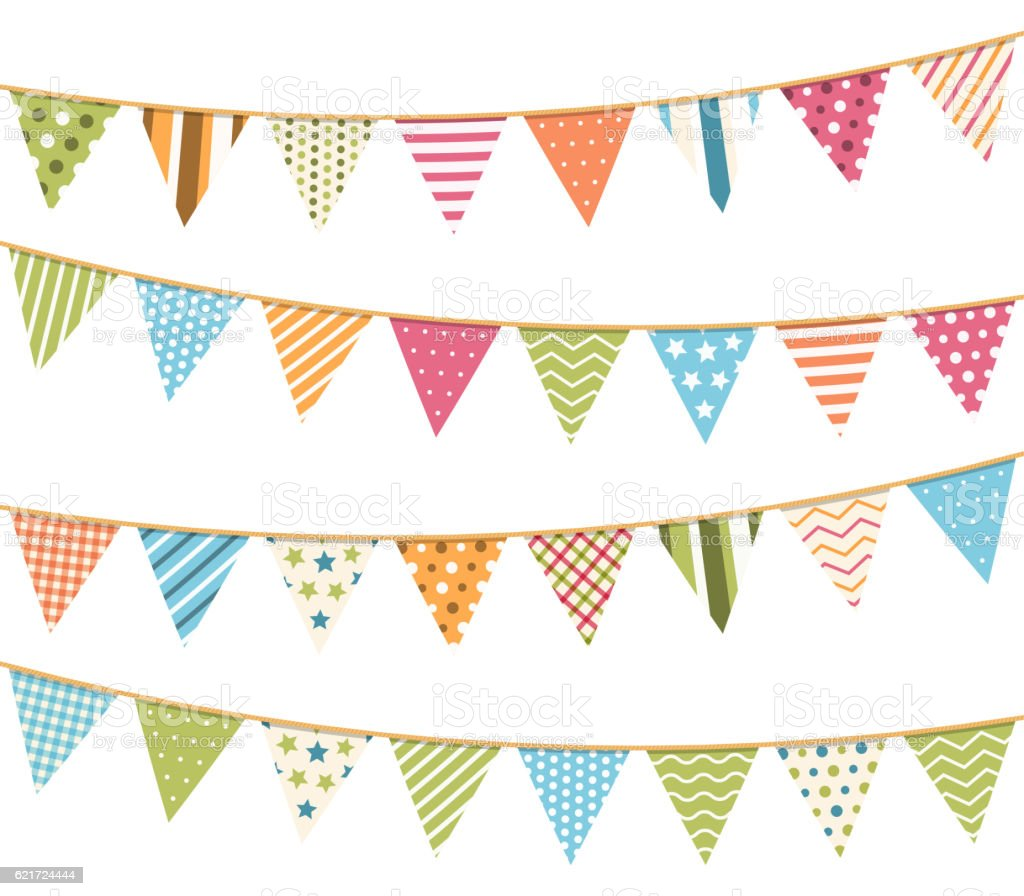 Bunting vector art illustration
