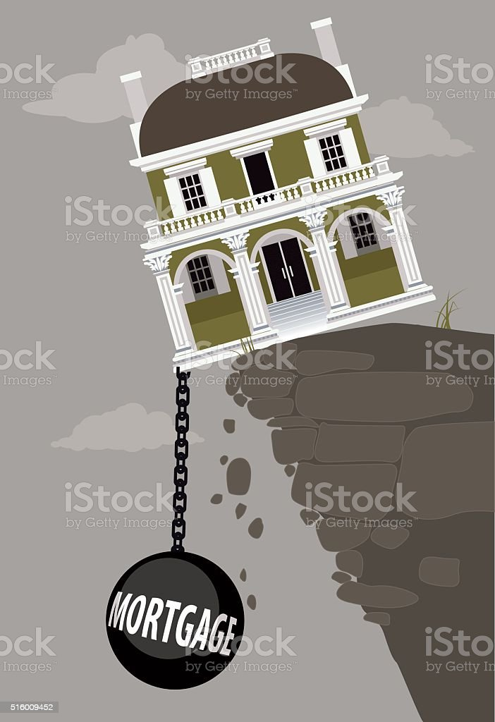 Burden of mortgage vector art illustration