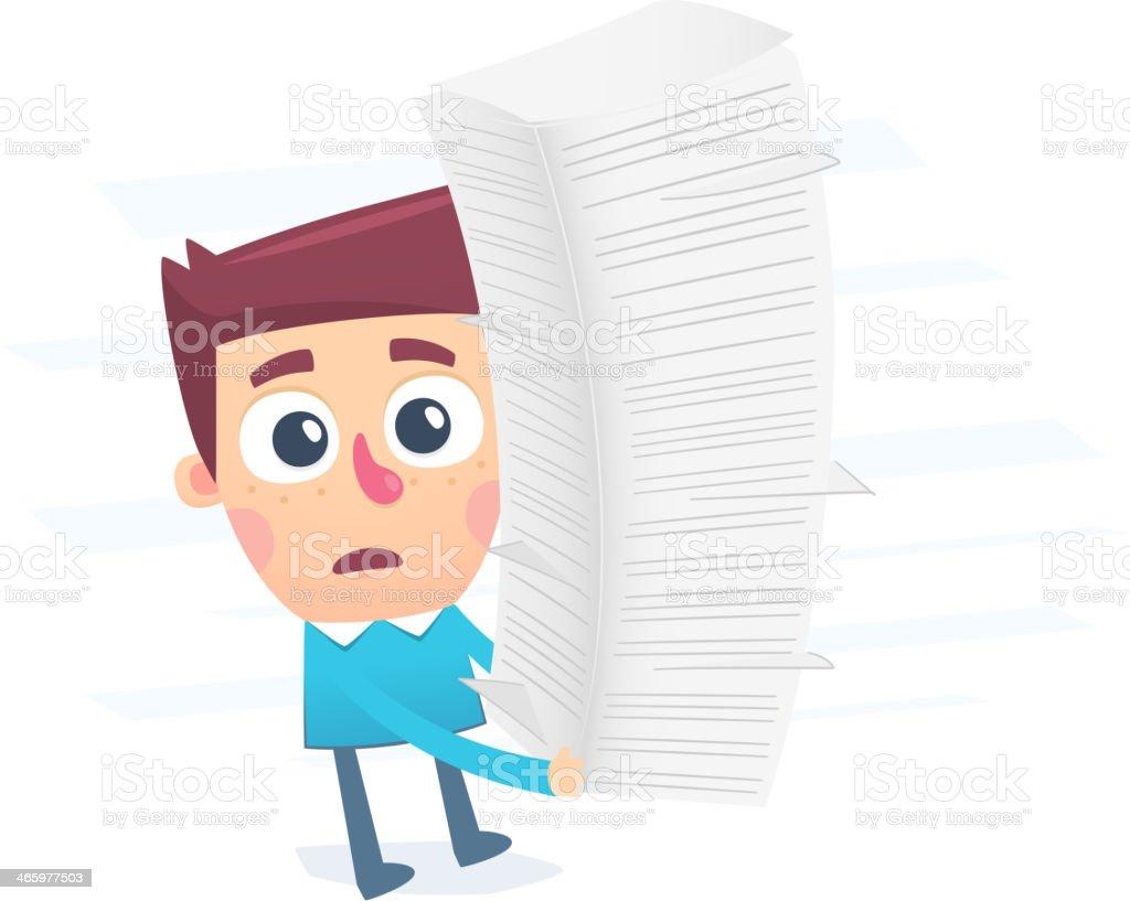 Bureaucracy complicates the process vector art illustration