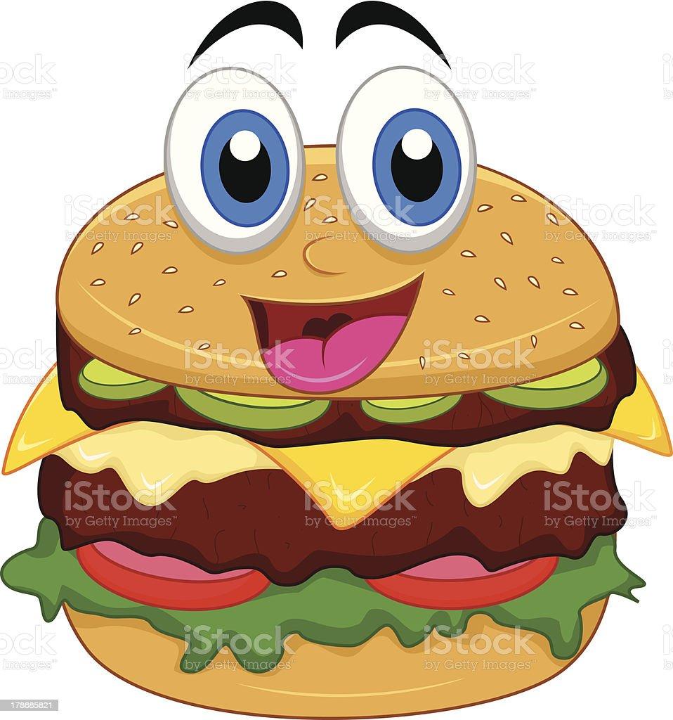 burger cartoon characters royalty-free stock vector art