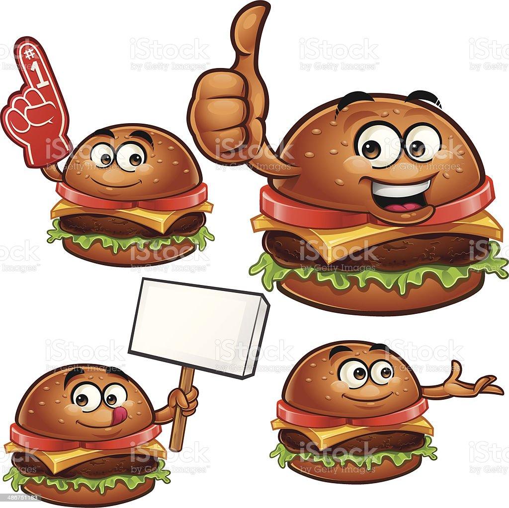 Burger Cartoon Set C royalty-free stock vector art