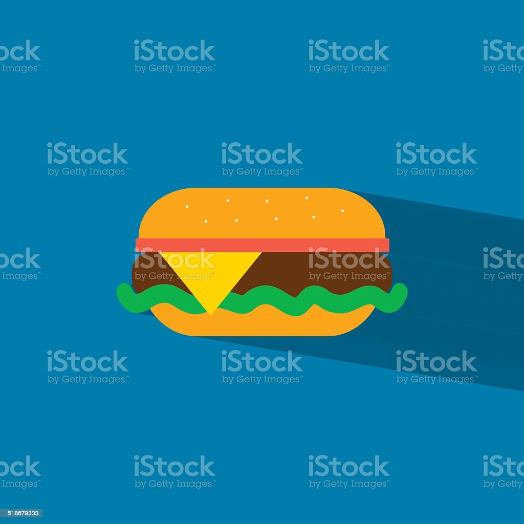 burger flat icon  vector illustration eps10 vector art illustration