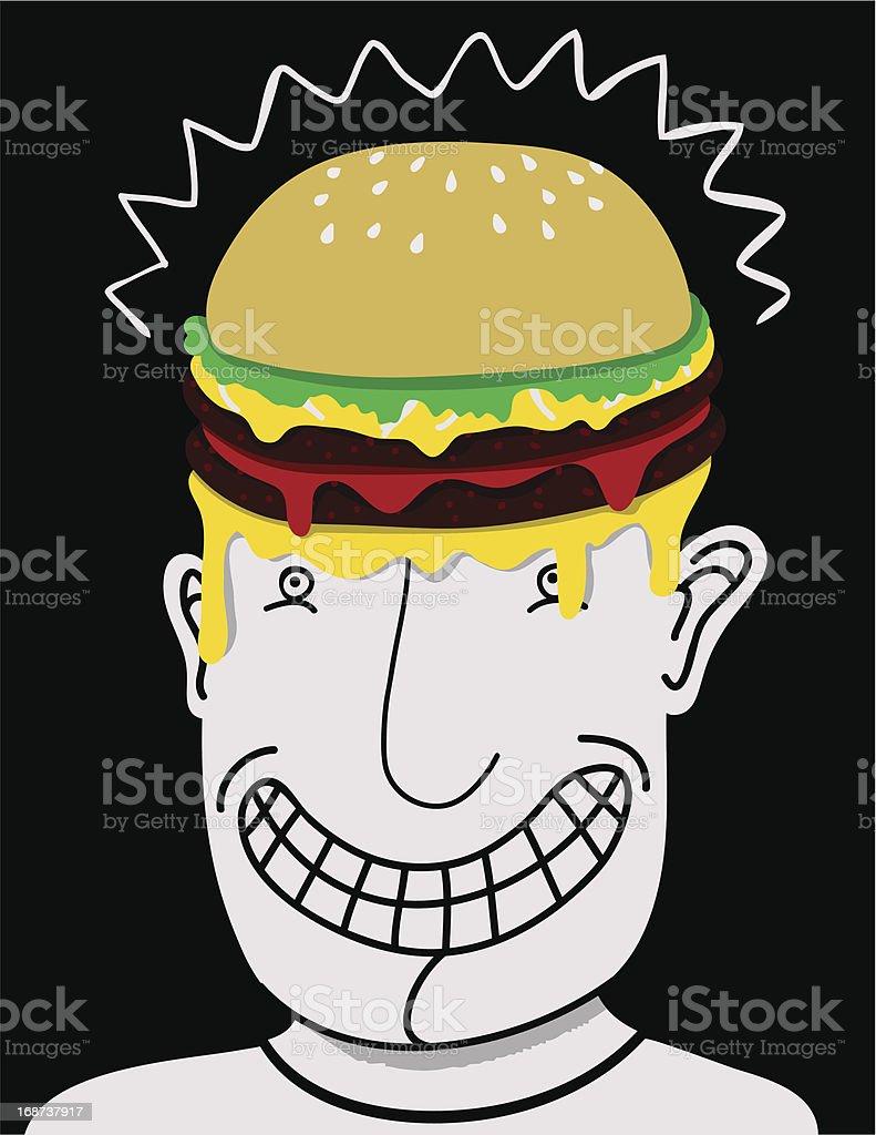 Burger head royalty-free stock vector art
