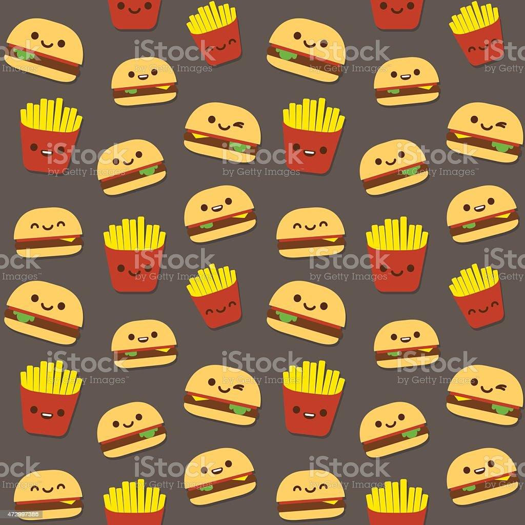 Burger pattern vector art illustration