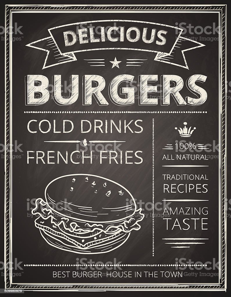 Burger poster vector art illustration