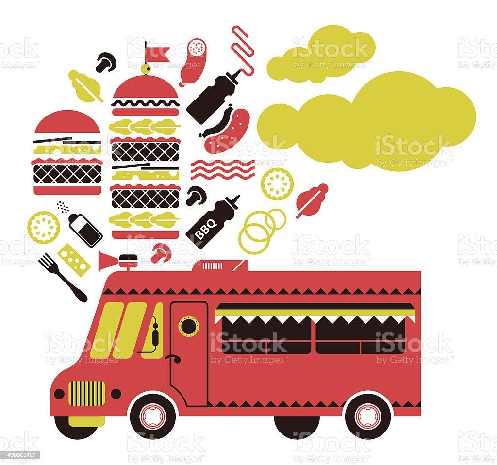 Burger Truck vector art illustration