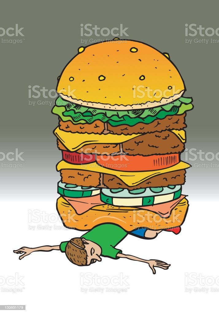 Hamburguer royalty-free stock vector art