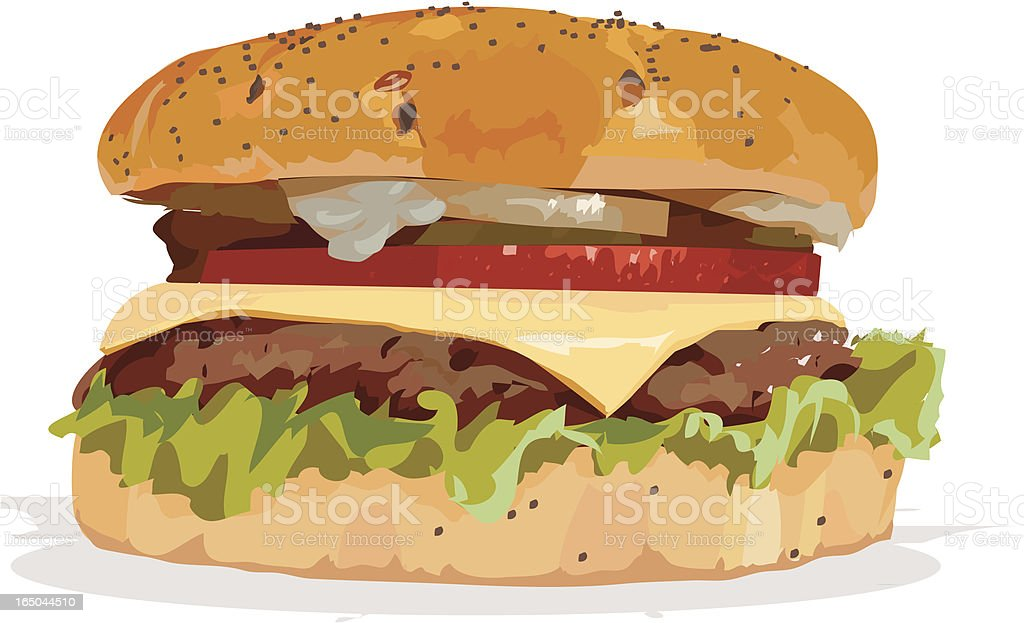 burger vector art illustration