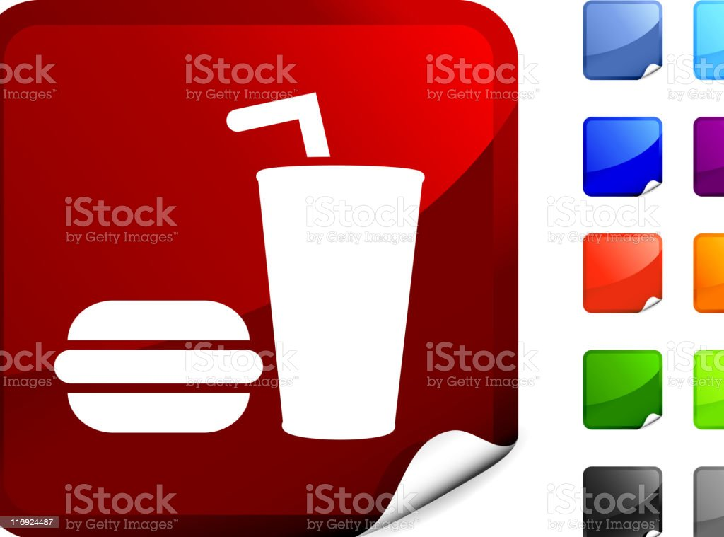 burger with cup of soda royalty free vector art royalty-free stock vector art
