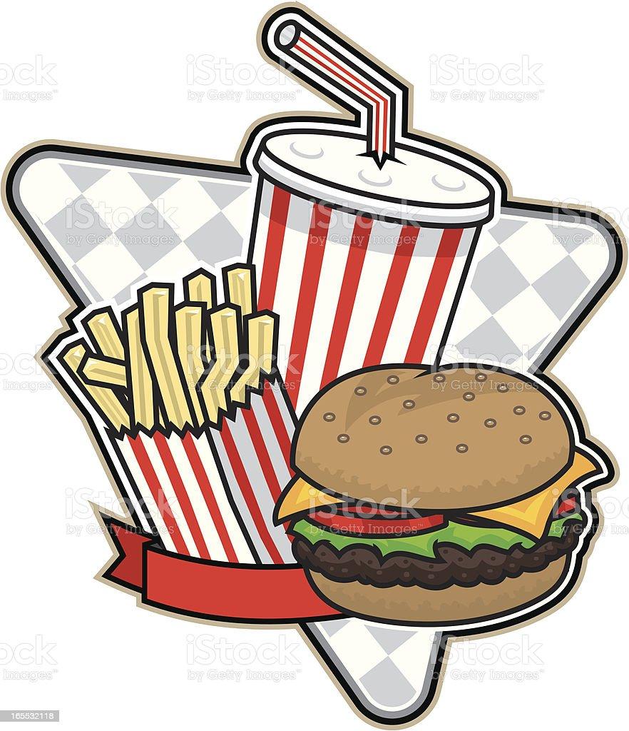 Burgertime royalty-free stock vector art