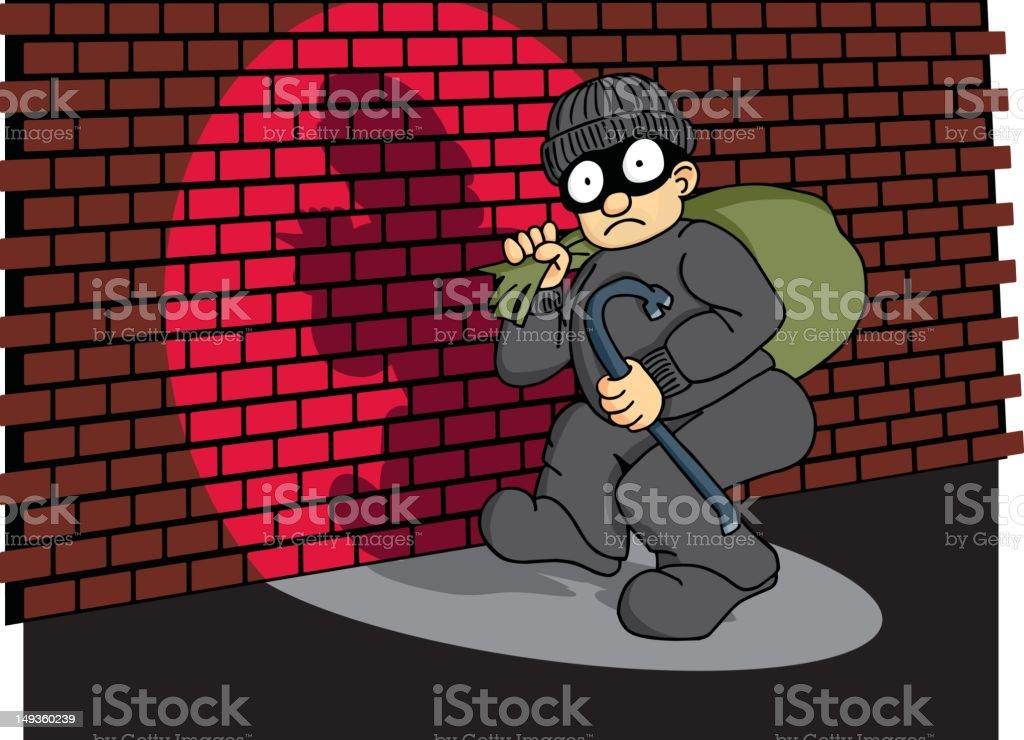 Burglar Caught in the Act 3 vector art illustration