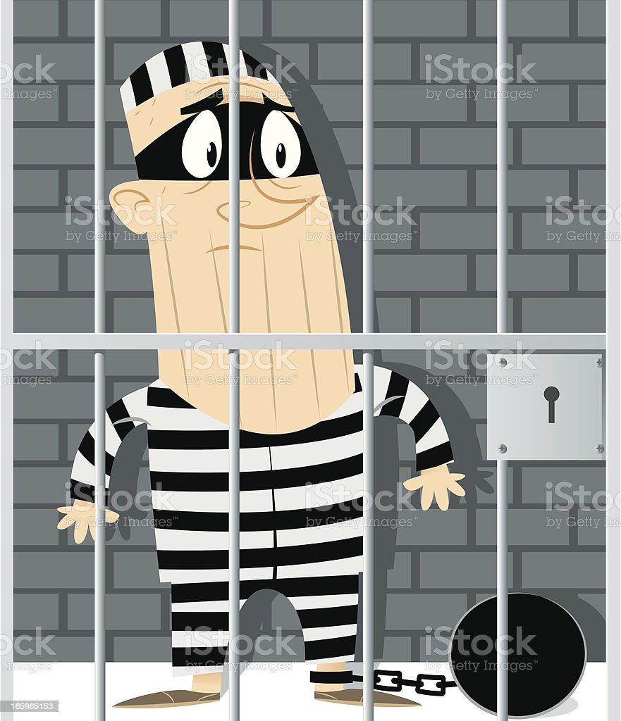Burglar vector art illustration