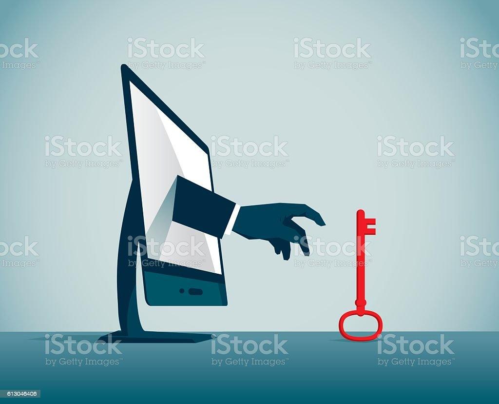 Burglar vector art illustration