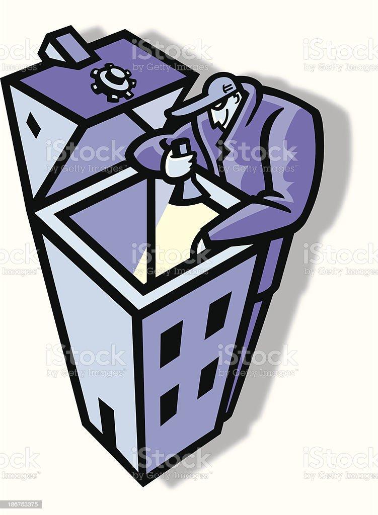 burglary vector art illustration