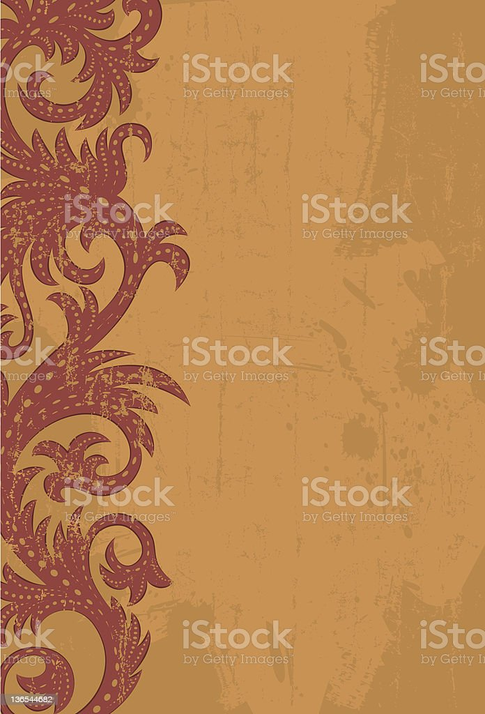 Burgundy side scroll royalty-free stock vector art