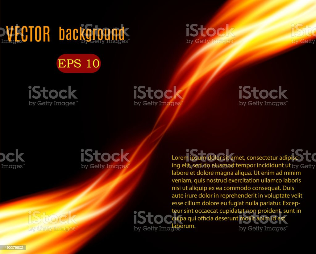 Burn flame fire vector background vector art illustration