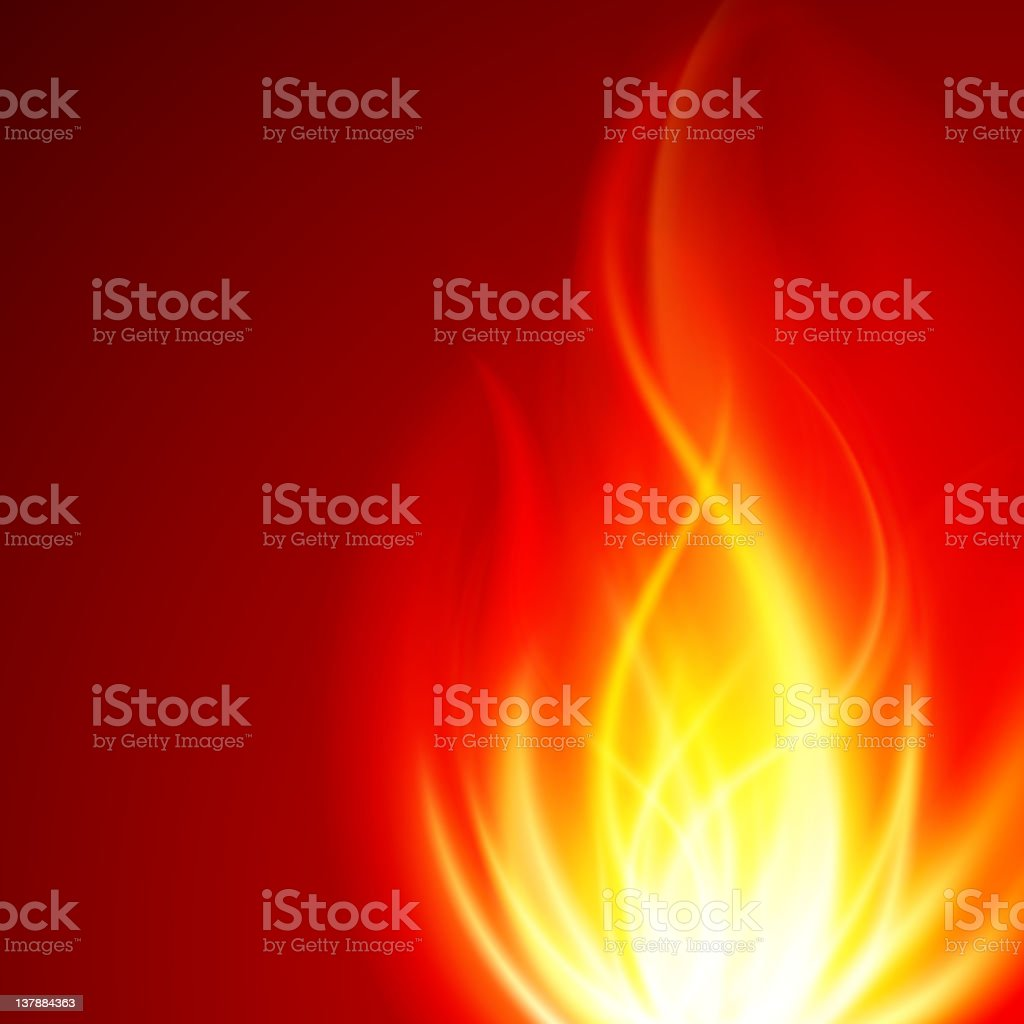 Burn flame fire vector art illustration