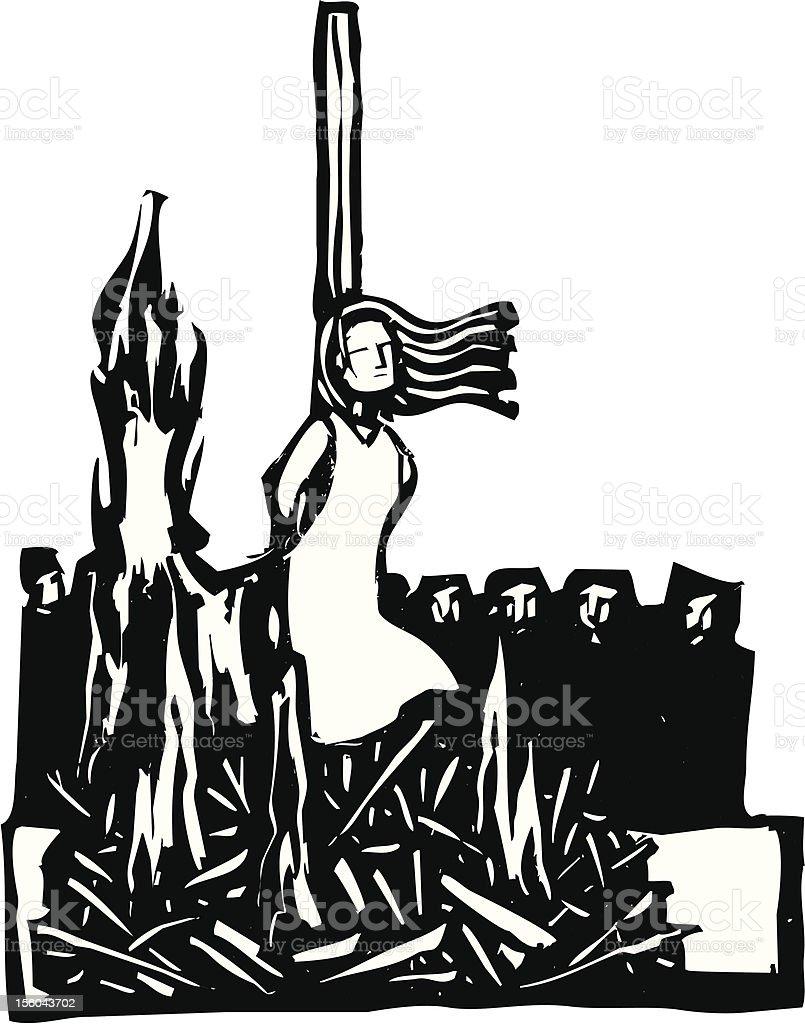 Burned at the Stake vector art illustration