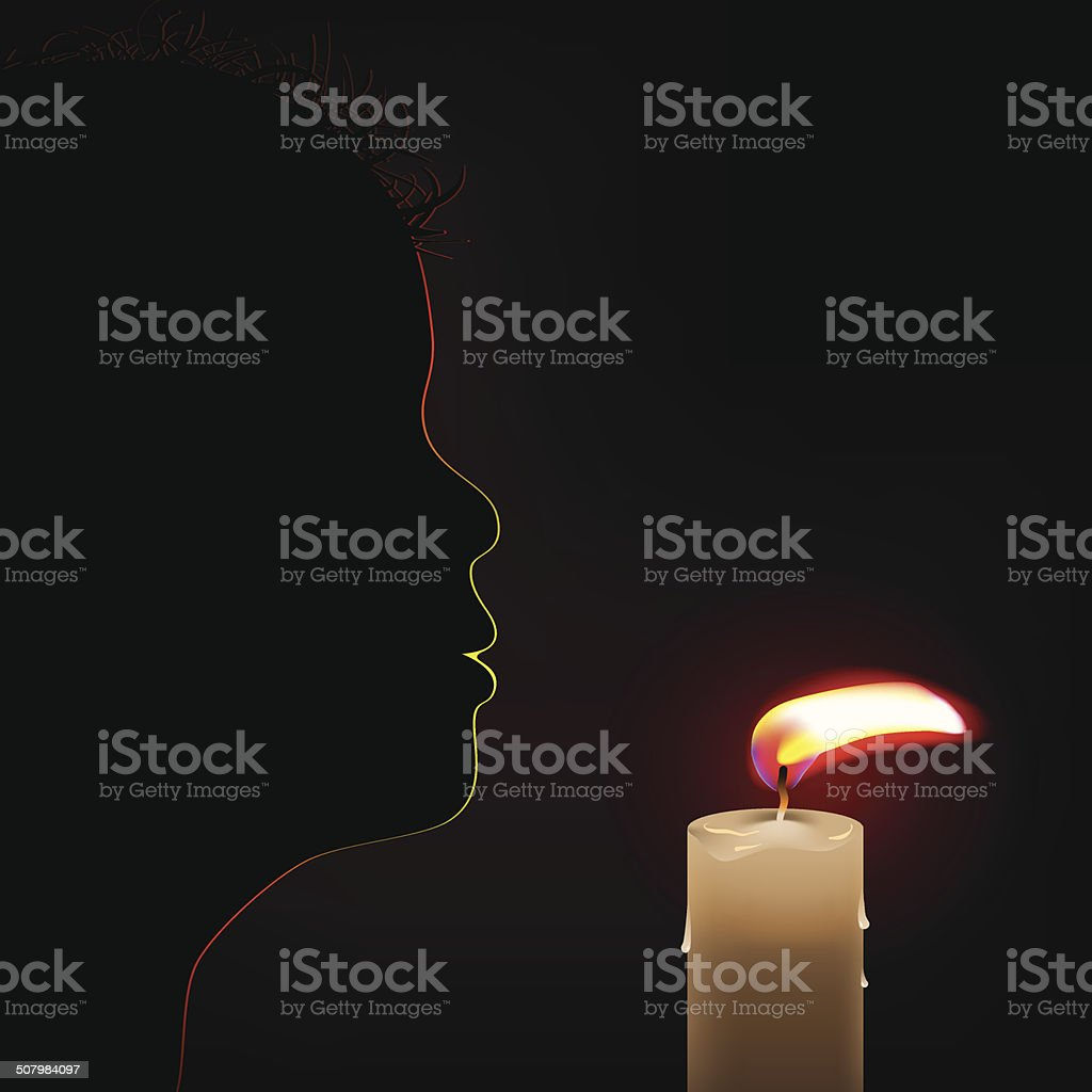 burning candle royalty-free stock vector art