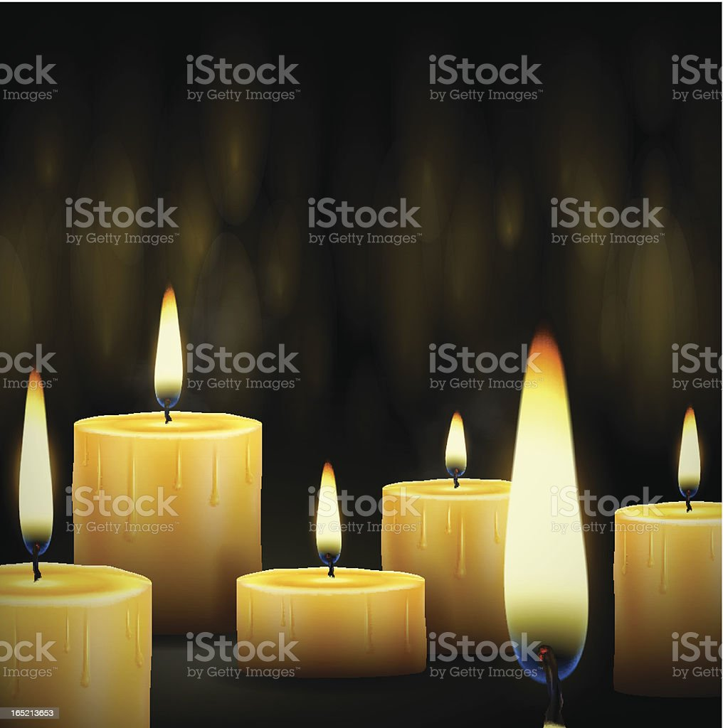Burning candles royalty-free stock vector art