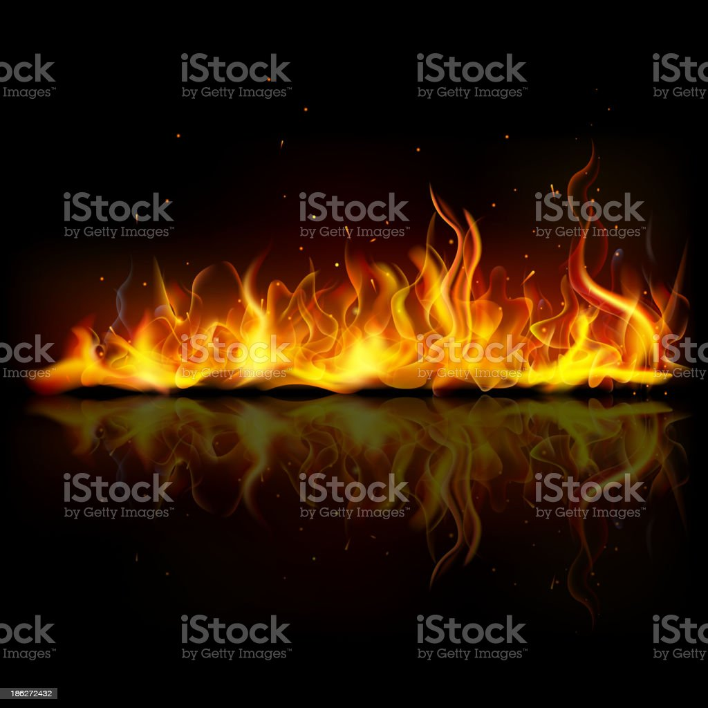 Burning Fire Flame vector art illustration